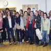 German, American exchange Students meet school board